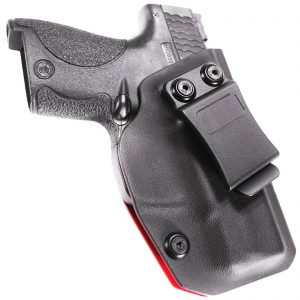 For M&P Shield 9mm .40 Cal IWB Red Kydex Concealed Carry Retention Holster Right
